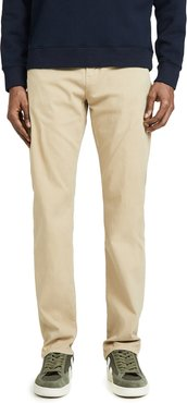 Luxury Gage Classic Straight Jeans in Sand