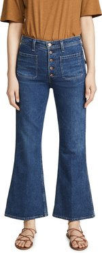 Maisie Patch Pocket Flare Jeans