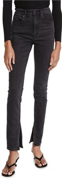 Stovepipe Dipped Back Jeans