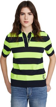 Vailhan Fluo Striped Polo Shirt