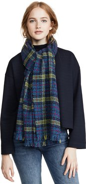 Plaid Metallic Scarf