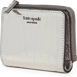Sylvia Croc Embossed Small Bifold Wallet