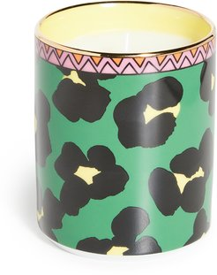 Flower Leopard Candle