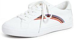 Sidewalk Low-Top Sneakers in Rainbow Embroidered Canvas