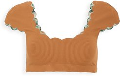 Scalloped Mexico Bikini Top