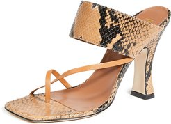 Python Print Crossover Thong Sandals