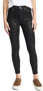 High Waisted Skinny Jeans With Faux Pockets