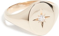 14k Classic Oval Signet Ring