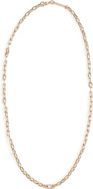 14k Gold Medium Square Oval Link Chain Necklace