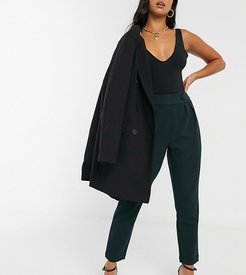 tapered pants in teal-Green