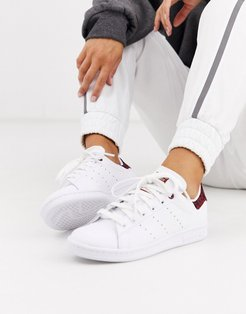 leopard print Stan Smith sneakers in white and maroon-Multi