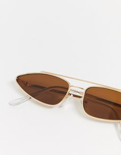pincer triangle sunglasses-Gold