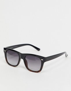 square sunglasses in black and tort