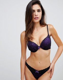 Darcy double boost padded plunge bra in purple