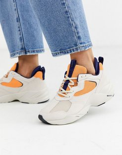Kanetyk orange & purple suede sneakers