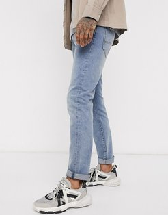 Icon J13 slim fit jeans in light wash-Blue