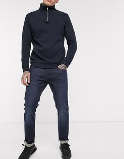 J13 slim fit jeans in mid dark wash-Blue