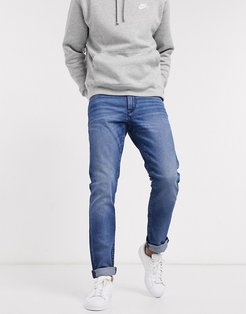 J13 slim fit jeans in mid wash-Blue