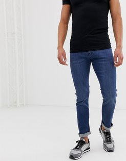 J13 stretch slim fit jeans in mid blue wash