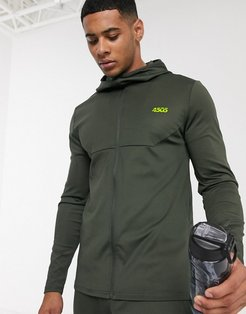 4505 icon muscle training hoodie-Green