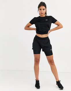 4505 icon woven short with underlayer-Black