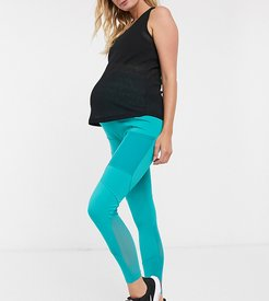 4505 Maternity icon legging with bum sculpt seam detail and pocket-Green