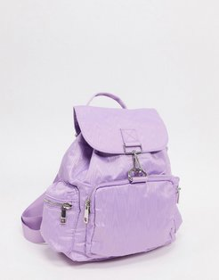 backpack in lilac moire with dogclips-Purple