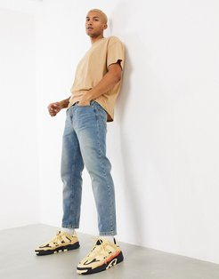 classic rigid jeans in vintage dirty wash blue
