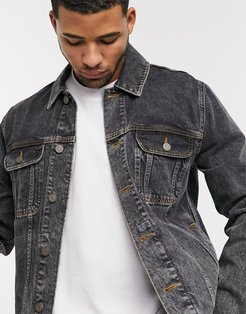 denim jacket in vintage washed black