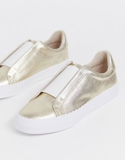 Devoted slip on sneakers in champagne gold
