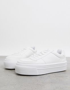 Diary flatform sneakers in white