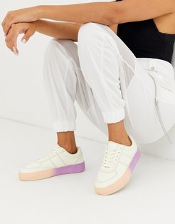 Dingo ombre sole sneakers in off white