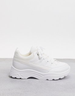 Domino hiker sneakers in white mix