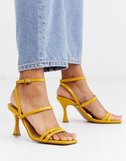 Hailee mid-heeled sandals in mustard-Yellow