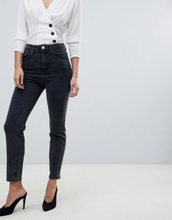 high rise farleigh 'slim' mom jeans in washed black