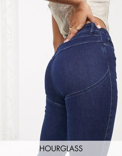 Hourglass lift and contour skinny jeans in indigo wash-Blue