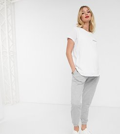ASOS DESIGN Maternity basic jogger with tie-Gray
