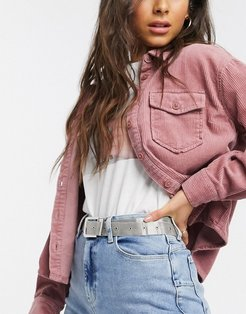 mesh waist and hip jeans belt in silver