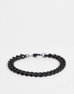 midweight chain bracelet in black