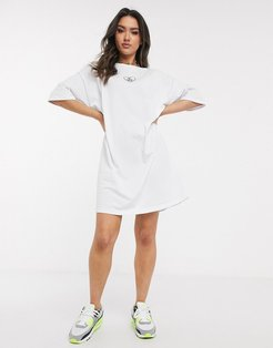 oversized t-shirt dress with no f$$k boys slogan in white