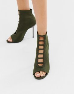 Paramount knitted heels-Green
