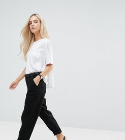 ASOS DESIGN Petite chino pants-Black