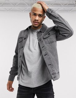 regular denim jacket in gray