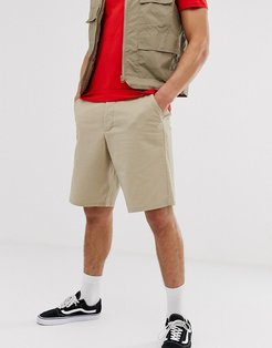 relaxed skater chino shorts in putty-Beige