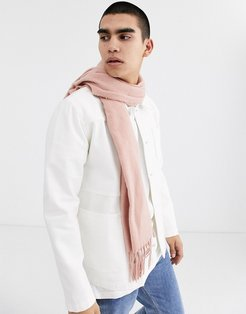 scarf in light pink with tassels