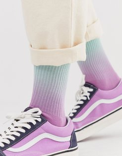 sports socks in ombre-Multi