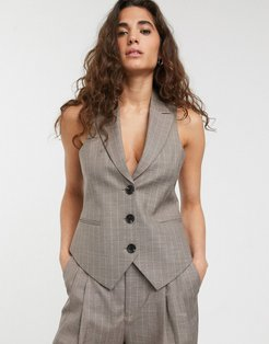 suit suit vest in gray pinstripe