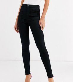 ASOS DESIGN Tall ankle length stretch skinny pants in black