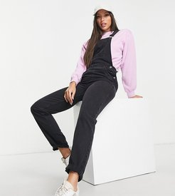 ASOS DESIGN Tall denim overall in washed black