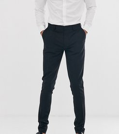 Tall super skinny fit suit pants in black